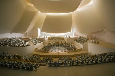 Koncertní sál v Miami od Franka Gehryho - Model foyer - foto: Courtesy of Frank Gehry Partners, LLP