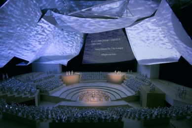 Koncertní sál v Miami od Franka Gehryho - Model koncertní síně - foto: Courtesy of Frank Gehry Partners, LLP