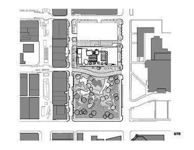 Koncertní sál v Miami od Franka Gehryho - Situace - foto: Courtesy of Frank Gehry Partners, LLP