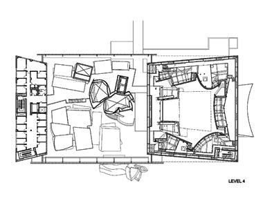 Koncertní sál v Miami od Franka Gehryho - Level 4 - foto: Courtesy of Frank Gehry Partners, LLP
