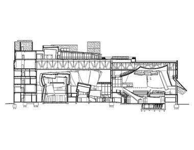 Koncertní sál v Miami od Franka Gehryho - Řez - foto: Courtesy of Frank Gehry Partners, LLP