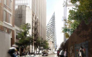 Obytná pyramida na Manhattanu od BIG - foto: Courtesy of BIG