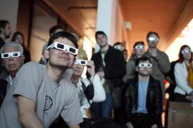 FA ČVUT Otevření / Opening - fotoreportáž ze čtvrteční slavnosti - 3D projekce - foto: Jan Hromádko