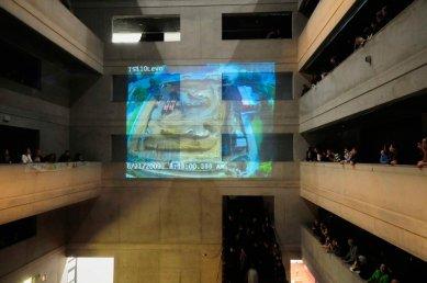 FA ČVUT Otevření / Opening - fotoreportáž ze čtvrteční slavnosti - Časosběrná projekce ze stavby nové budovy - foto: AV Media
