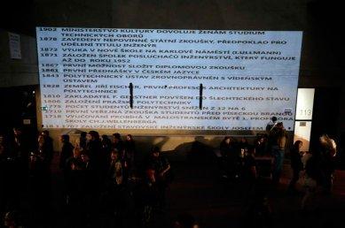 FA ČVUT Otevření / Opening - fotoreportáž ze čtvrteční slavnosti - Projekce - foto: AV Media