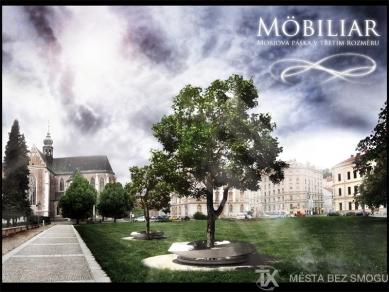 """Výsledky architektonické soutěže """"Města bez smogu"""" - 3.cena veřejnosti MOBILIAR, Ondřej Kovář"""
